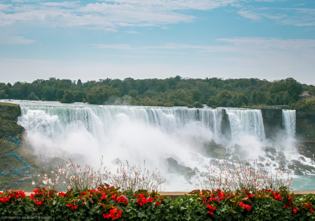 Niagara Falls as seen from the Canada side - Taken from the designated falls viewpoint, the best view of Niagara Falls.