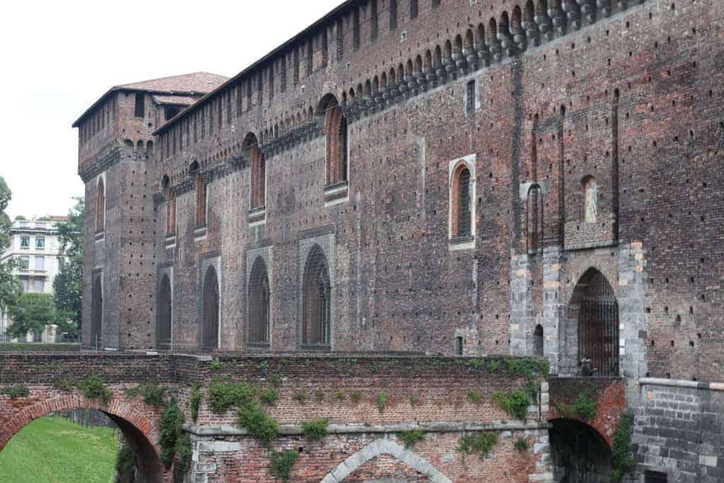 Sforza Castle in Milan, Italy.
