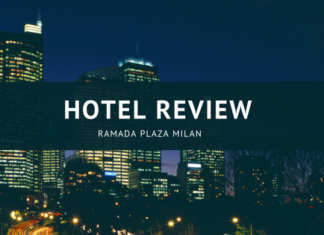 Caption: Hotel Review Ramada Plaza Milan. Room and grounds review. Travel with kids. Family Travel. Italy