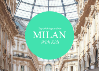 "Cover photo for post titled ""Top 8 things to do in Milan with kids."" Photo of Piazza in Milan"
