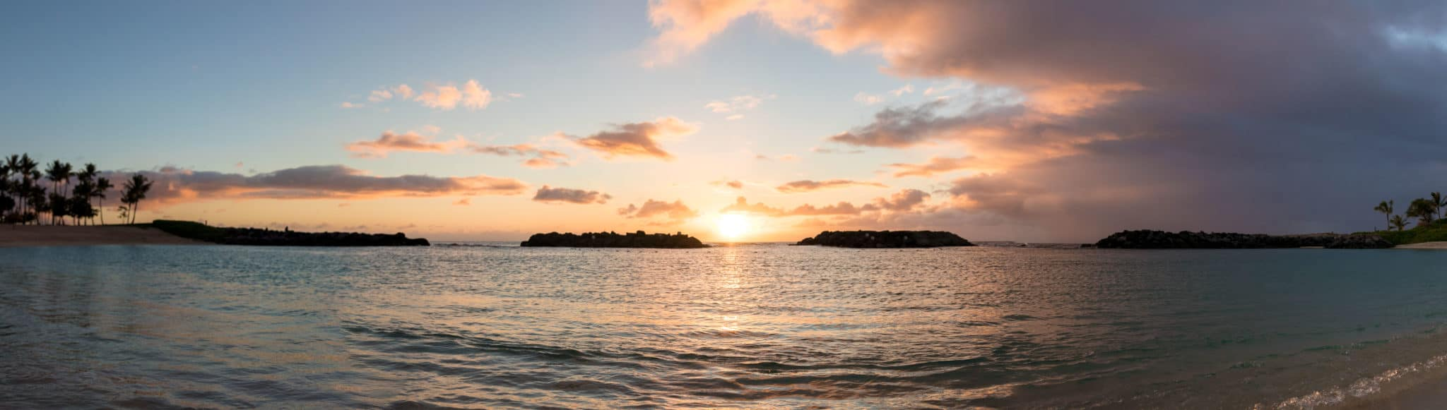 Love watching the sun go down over the Ko Olina lagoon on Oahu's Leeward side.