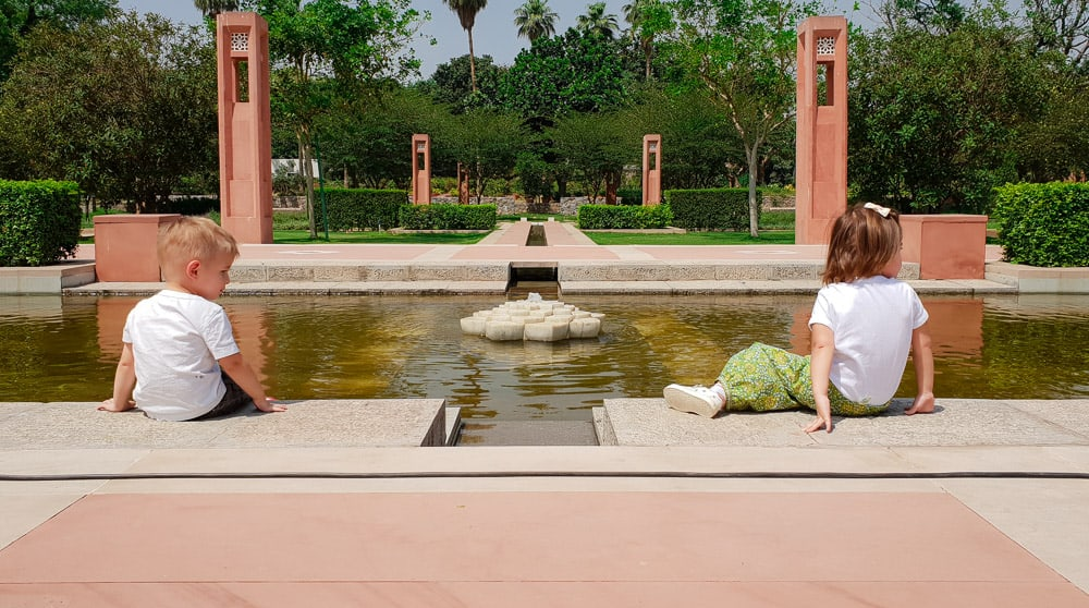 Water features through out the free public park in Delhi! Best park in Delhi for family
