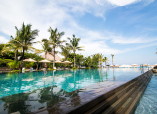 The pool at the Ritz Carlton Bali