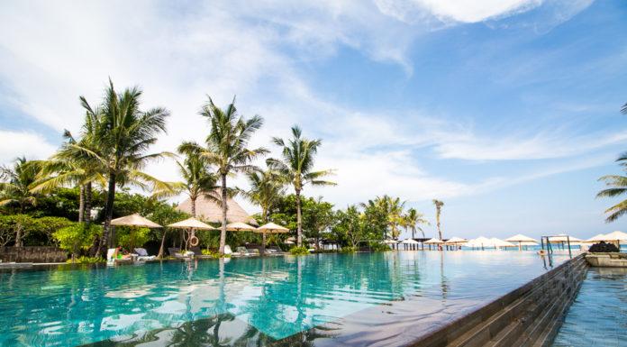 The pool at the Ritz Carlton Bali