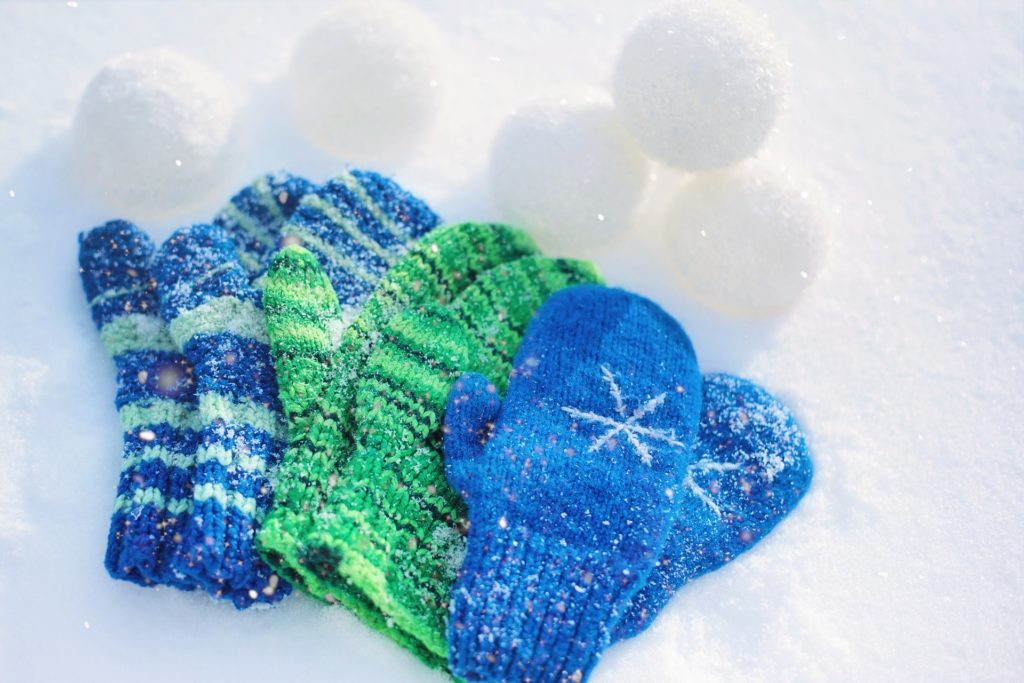 3 sets of mittens for kids, - its best to bring your own to ski India so you know they will fit properly