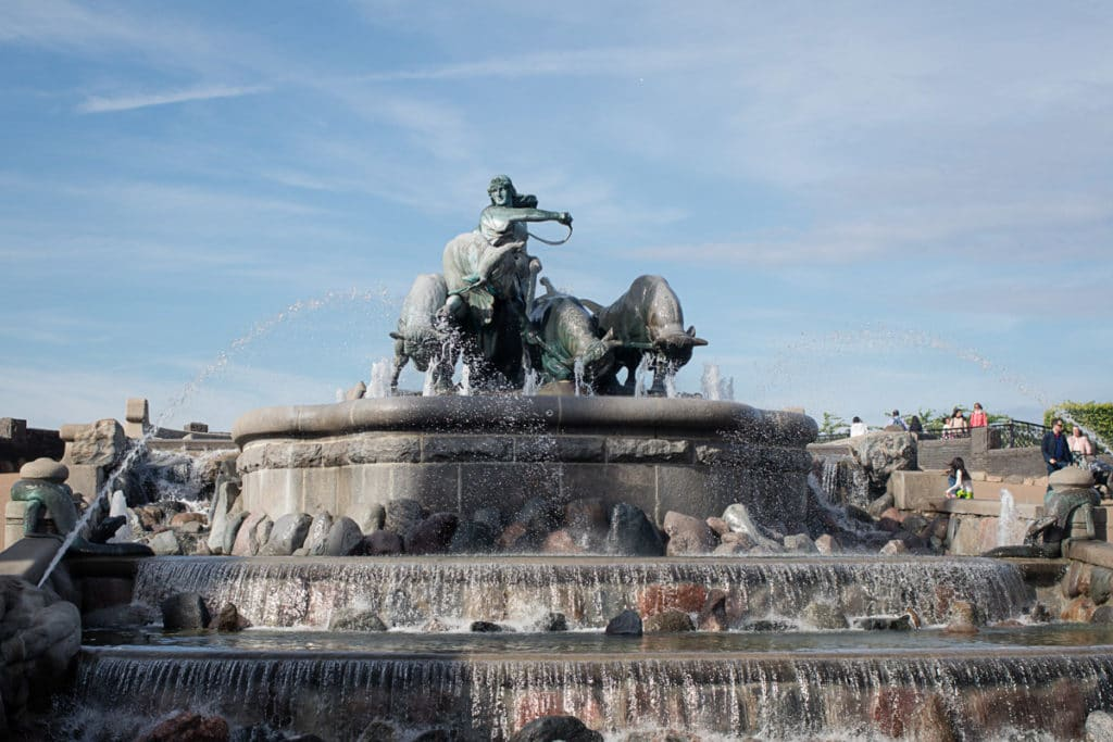 Gefion fountain because all kids love fountains. Copenhagen with kids.