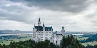 The fairy tale castle in Germany. Neuschwanstein castle in spired Disney!