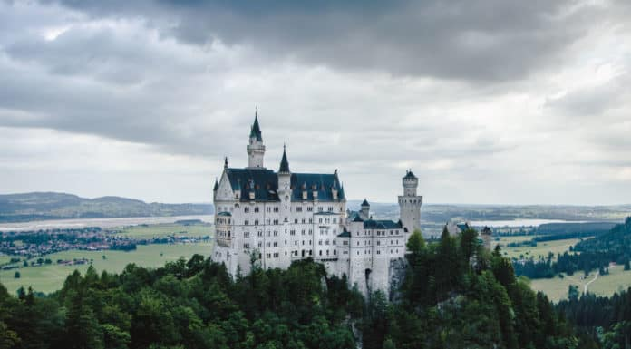 The fairy tale castle in Germany. Neuschwanstein castle in spired Disney!