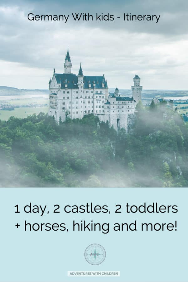 1 day, 2 toddlers, 2 castles and a real-life fairy tale in Germany? We visited #Neuschwastein and #Hohenschwangau castles with toddlers! Castle is THE castle that inspired Disney! It wasn't all dreamy though so read this before you visit!..........#Travel #travelwithkids #germanywithkids #castles #fairytalecastle #placestosee #destinationinspiration #traveloften #adventureswithchildren