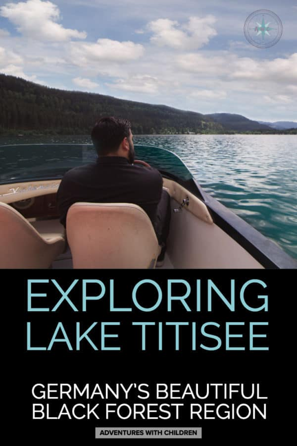 Exploring Lake Titisee, Germany by boat! One of the best things to do in Germany's Black Forest region. #laketitisee is touristy but for good reason. See for yourself. #travel #germany #europetrip #seetheworld #adventureswithchildren